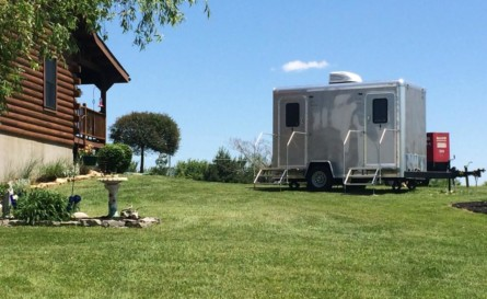 Hosting an outdoor party, event or wedding? Rent a Cincinnati Restroom Trailer!